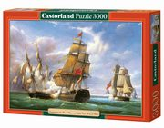 Puzzle Combat between the French and the English Vessels 3000,
