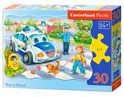 Puzzle konturowe Way to School 30,
