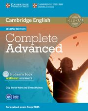 Complete Advanced Student's Book without answers z płytą CD, Brook-Hart Guy, Haines Simon