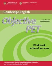 Objective PET Workbook without answers, Hashemi Louise, Thomas Barbara