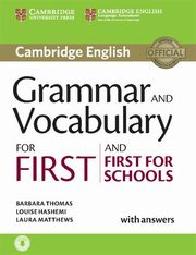 Grammar and Vocabulary for First and First for Schools with answers, Thomas Barbara, Hashemi Louise, Matthews Laura