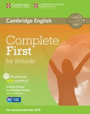 Complete First for Schools Workbook with answers + CD, Thomas Barbara, Thomas Amanda